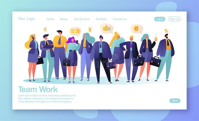 Conceito da página de aterrissagem para o desenvolvimento do Web site e o projeto móveis do página da web ilustração royalty free