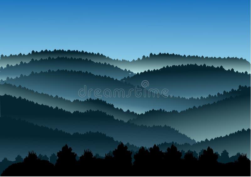 Conceito da paisagem exterior e curso, ilustração do vetor
