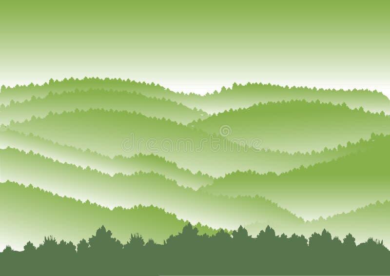 Conceito da paisagem exterior e curso, ilustração royalty free