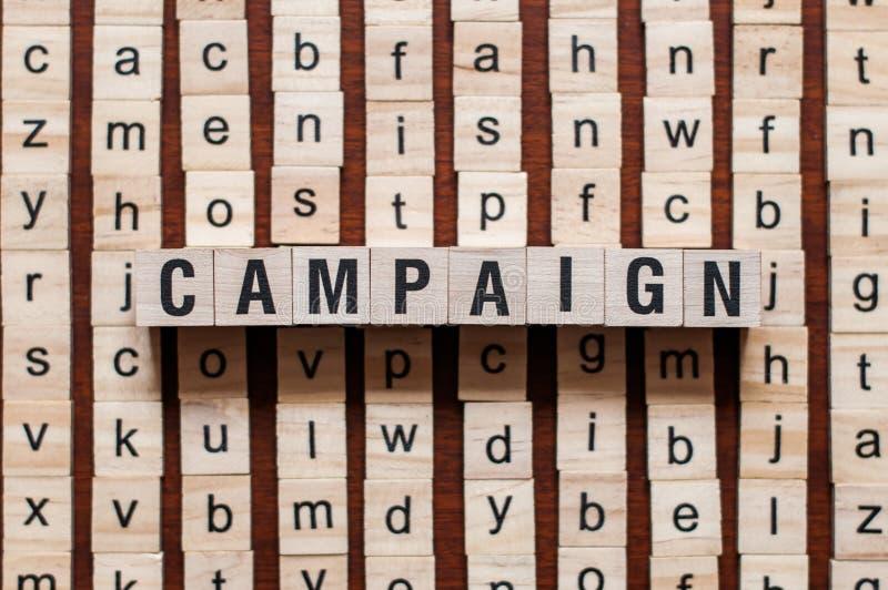 Conceito da palavra da campanha imagens de stock