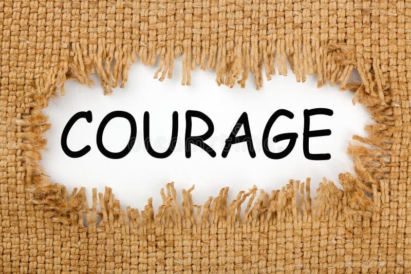 Conceito da palavra da coragem fotos de stock