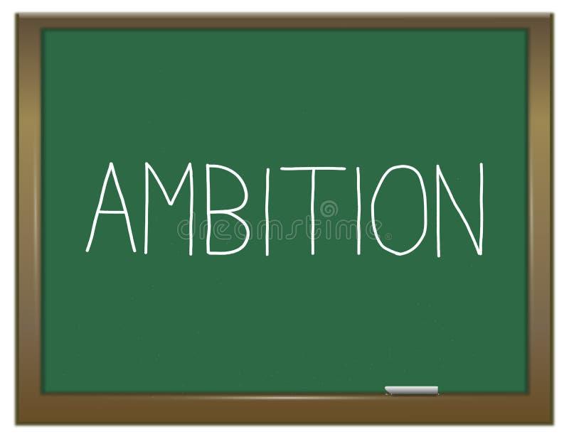 Conceito da palavra da ambição ilustração do vetor