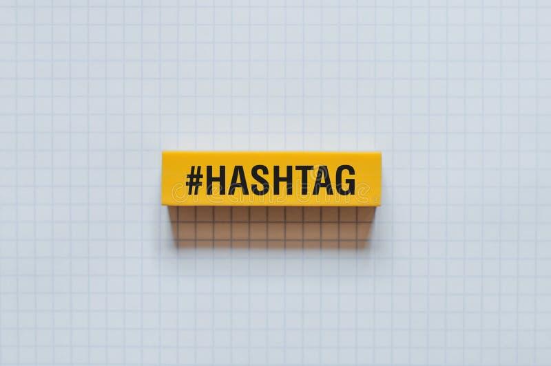 Conceito da palavra de HASHTAG foto de stock