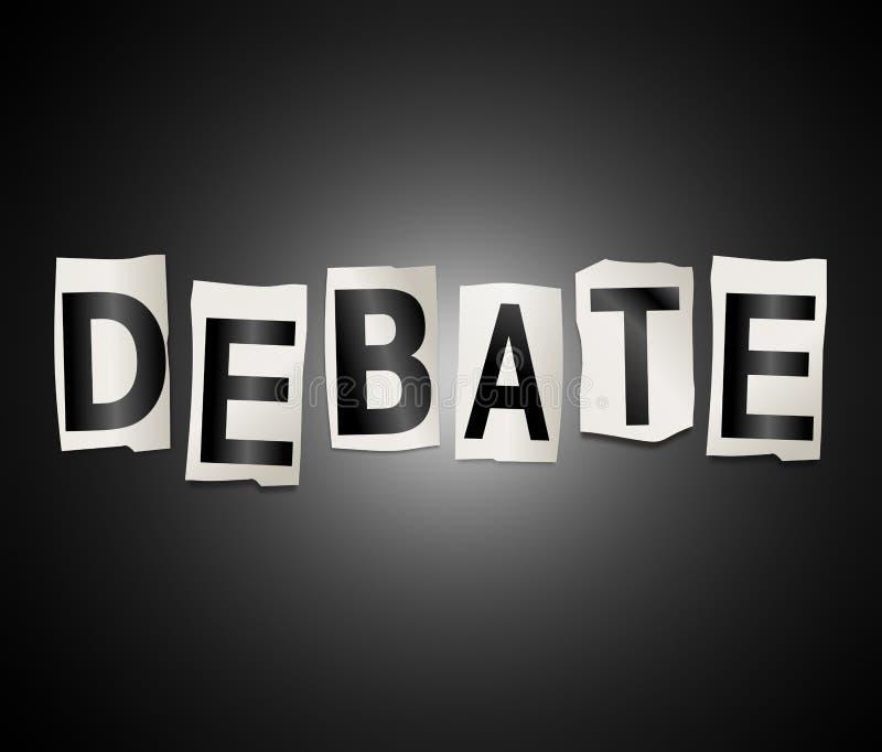 Conceito da palavra do debate ilustração royalty free