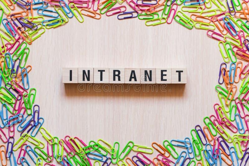 Conceito da palavra do intranet fotografia de stock royalty free