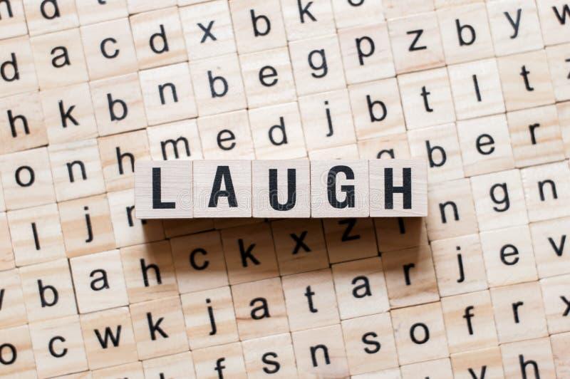 Conceito da palavra do riso imagens de stock royalty free