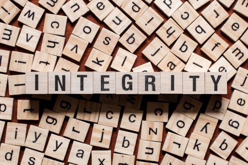 Conceito da palavra da integridade imagem de stock