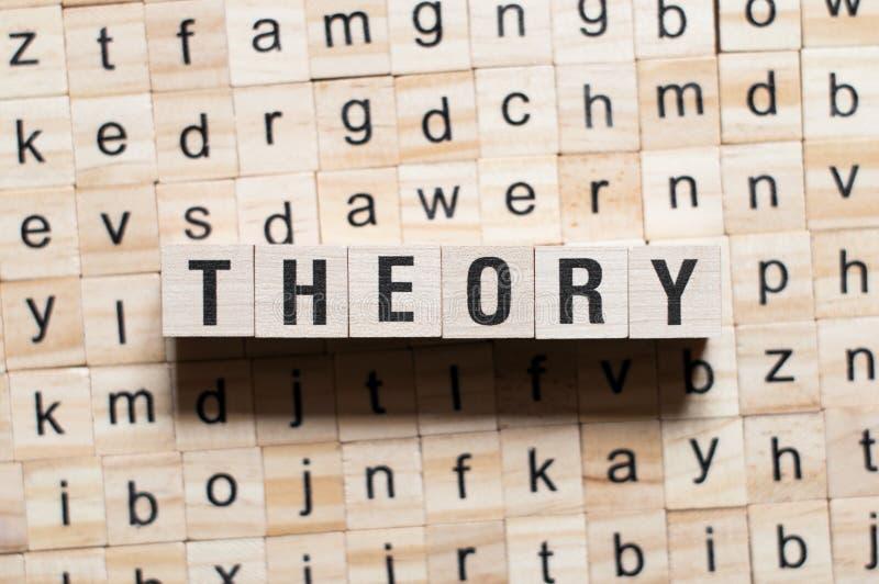Conceito da palavra da teoria imagem de stock royalty free
