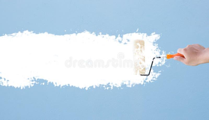 Conceito da parede da pintura imagens de stock