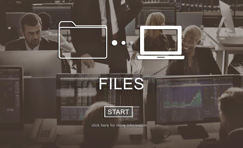 Conceito da parte da rede da mensagem de informação dos dados dos arquivos fotos de stock royalty free