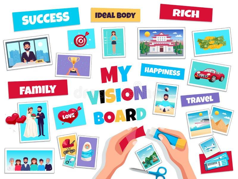 Conceito da placa da visão dos sonhos ilustração royalty free