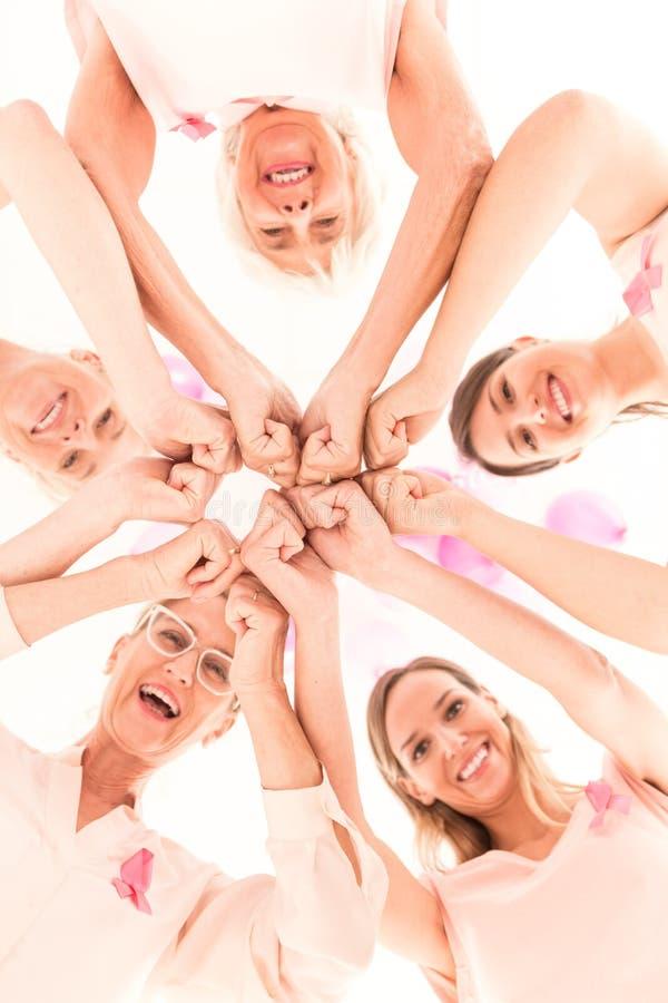 Conceito da prevenção de câncer da mama foto de stock royalty free