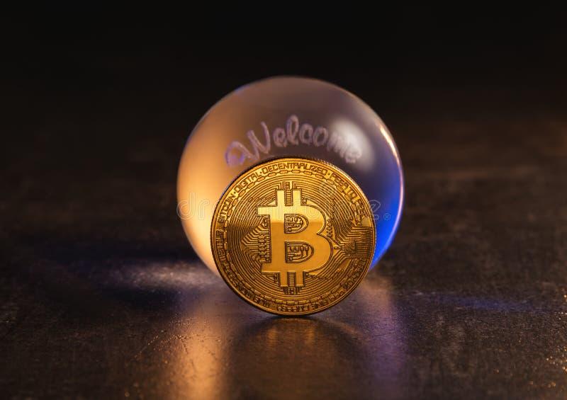Conceito da previsão do mercado de Cryptocurrency imagens de stock