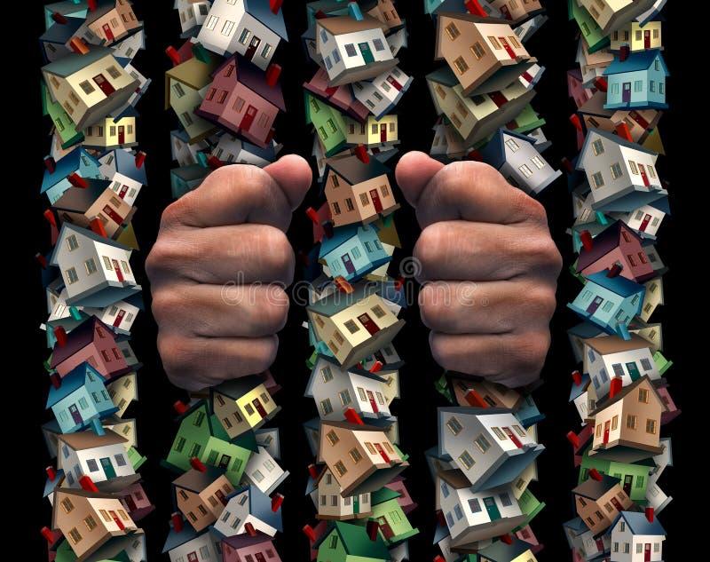 Conceito da prisão da casa ilustração do vetor