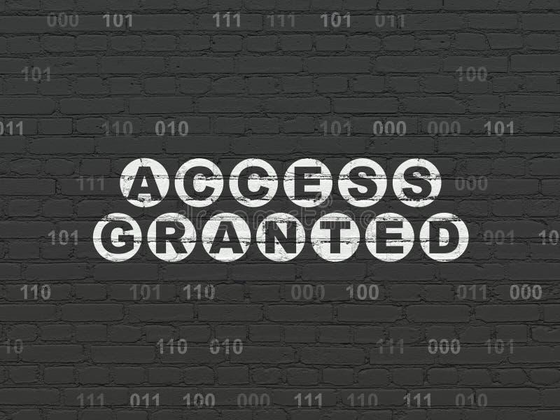 Conceito da privacidade: Alcance concedido no fundo da parede ilustração do vetor