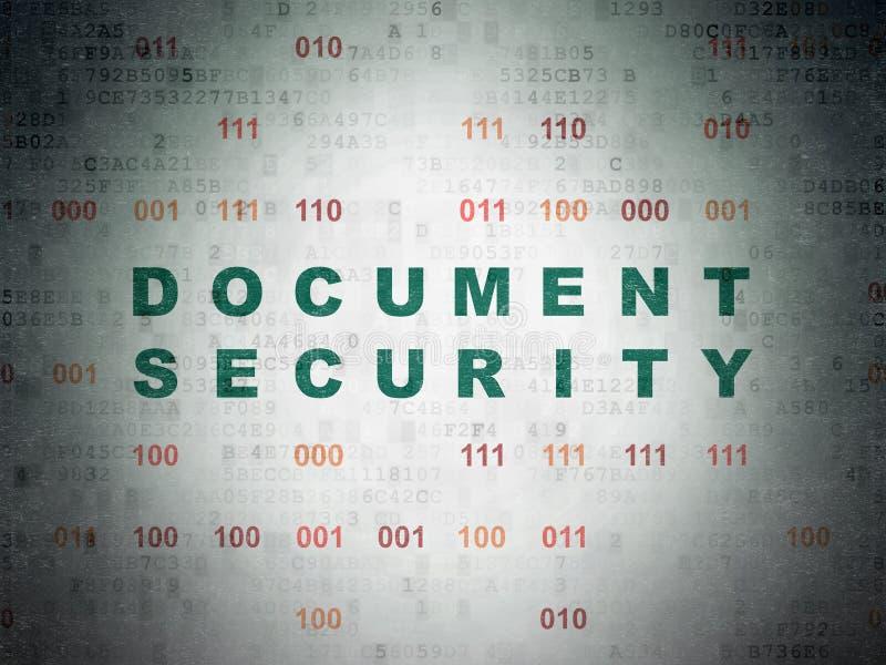 Conceito da privacidade: Segurança do original no fundo do papel dos dados de Digitas imagens de stock royalty free