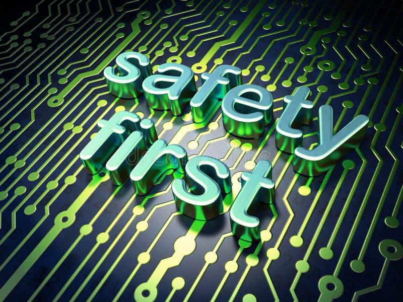 Conceito da privacidade: segurança em primeiro lugar da placa de circuito fotografia de stock