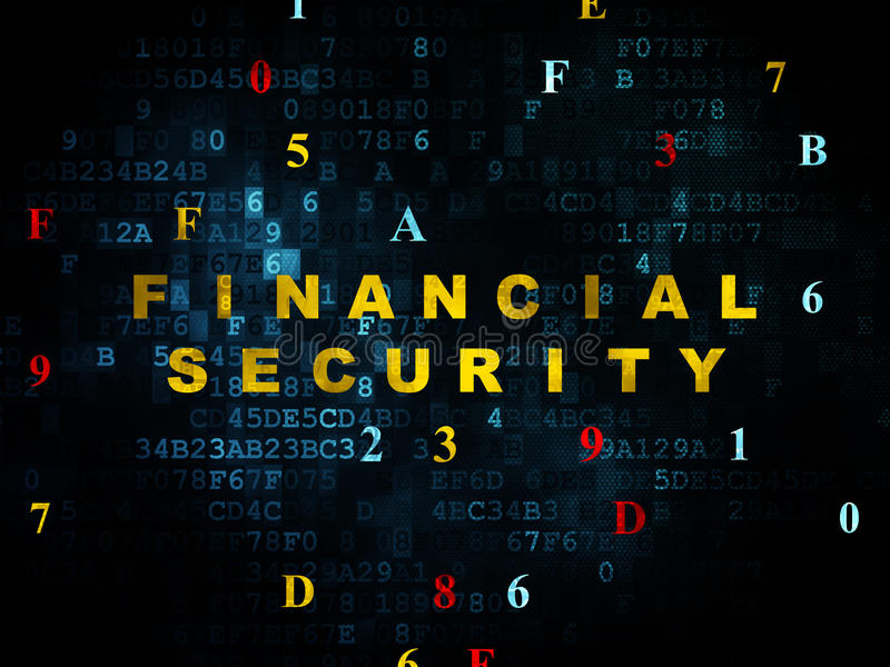 Conceito da privacidade: Segurança financeira em Digitas fotografia de stock