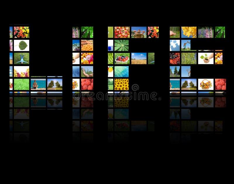 Conceito da produção da televisão fotografia de stock royalty free