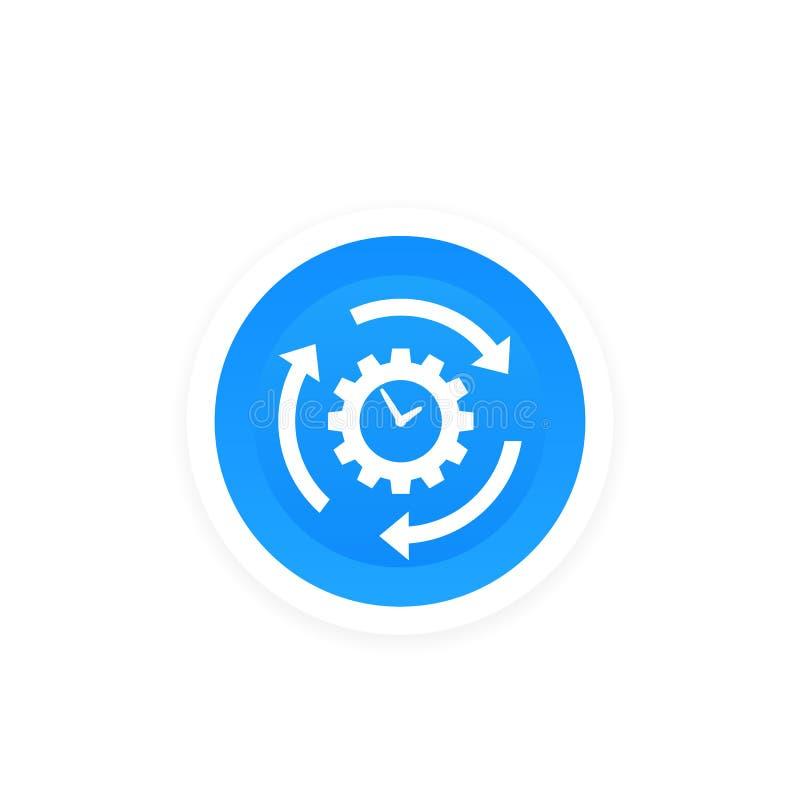 Conceito da produtividade e da eficiência, ícone do vetor ilustração stock