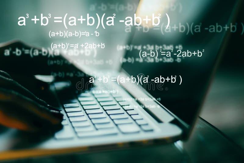 Conceito da programação e do algoritmo imagem de stock