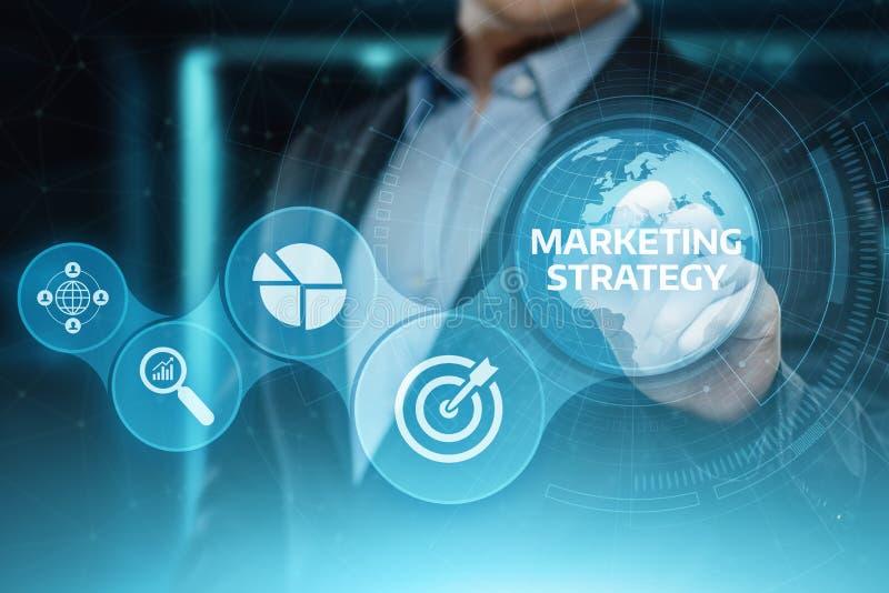 Conceito da promoção do plano da propaganda de negócio da estratégia de marketing ilustração do vetor