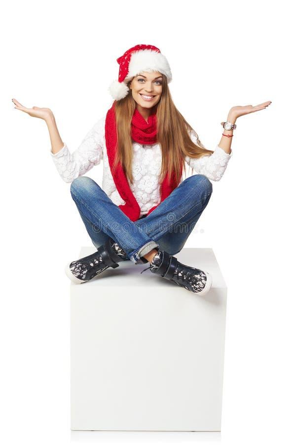 Conceito da propaganda do Natal imagem de stock