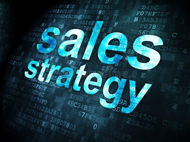 Conceito da propaganda: Estratégia das vendas no fundo digital imagem de stock royalty free