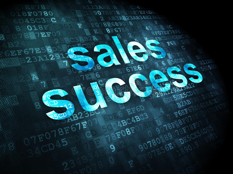Conceito da propaganda: Sucesso das vendas no fundo digital imagens de stock