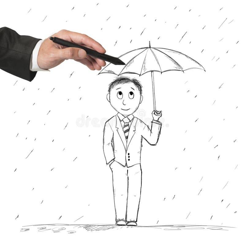 Conceito da proteção ilustração do vetor