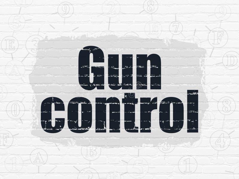 Conceito da proteção: Controlo de armas no fundo da parede ilustração royalty free