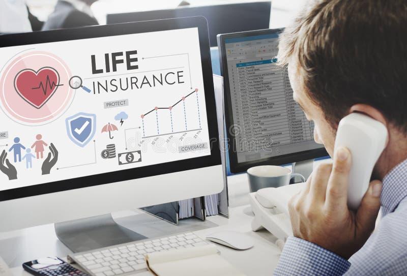 Conceito da proteção do beneficiário da proteção do seguro de vida foto de stock