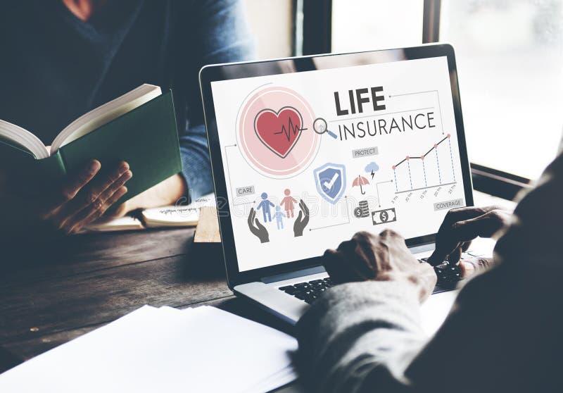 Conceito da proteção do beneficiário da proteção do seguro de vida imagem de stock