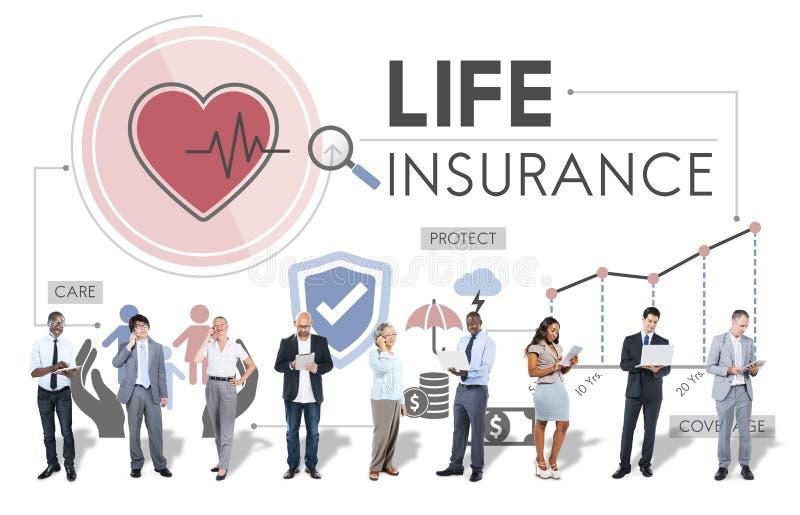 Conceito da proteção do beneficiário da proteção do seguro de vida imagem de stock royalty free