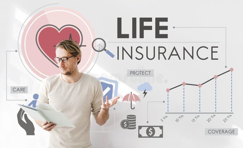 Conceito da proteção do beneficiário da proteção do seguro de vida foto de stock royalty free