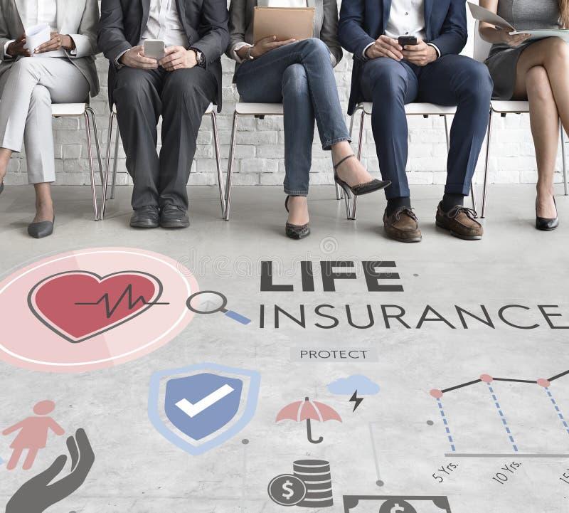 Conceito da proteção do beneficiário da proteção do seguro de vida imagens de stock