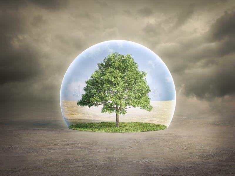 Conceito da protecção ambiental ilustração royalty free