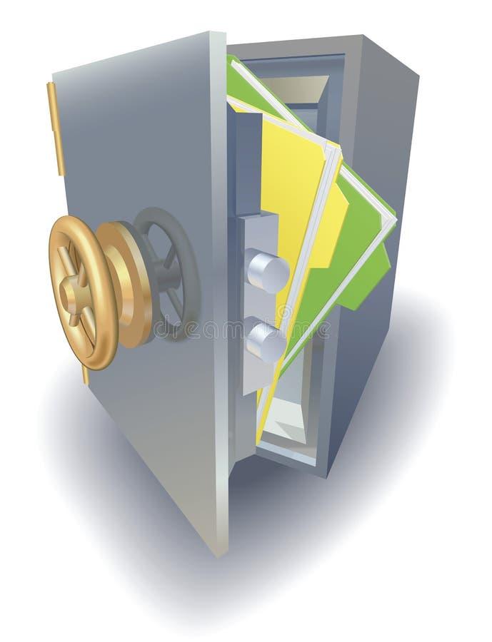 Conceito da protecção de dados ilustração stock