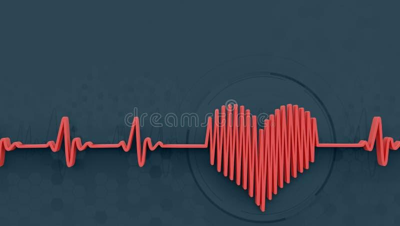Conceito da pulsação do coração ilustração royalty free