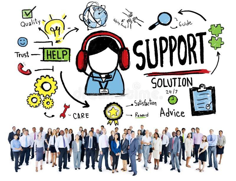 Conceito da qualidade da satisfação do cuidado da ajuda do conselho da solução do apoio ilustração do vetor