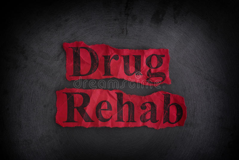 Conceito da reabilitação da droga imagens de stock