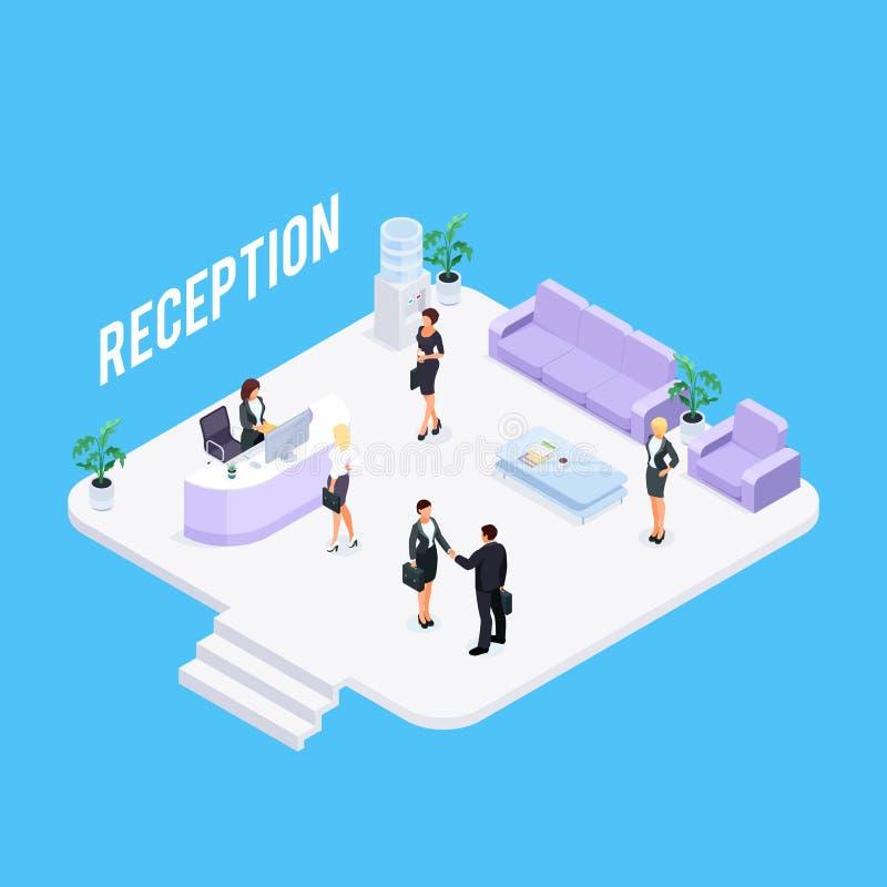 Conceito da recepção de Sometric isolado ilustração royalty free