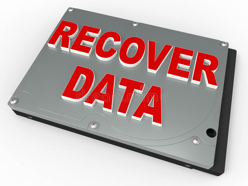 Conceito da recuperação dos dados ilustração royalty free