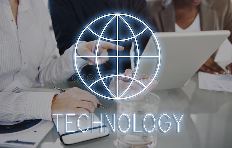 Conceito da rede de comunicação global do Web page do Internet fotos de stock