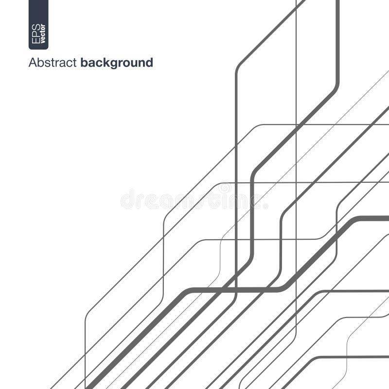 Conceito da rede de Digitas Vector o fundo abstrato com linhas técnicas para o projeto gráfico circuito da tecnologia dentro ilustração stock
