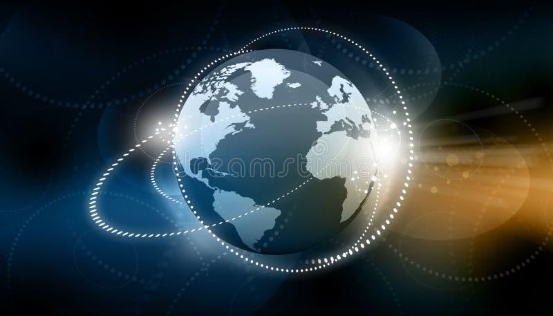 Conceito da rede do negócio global ilustração do vetor