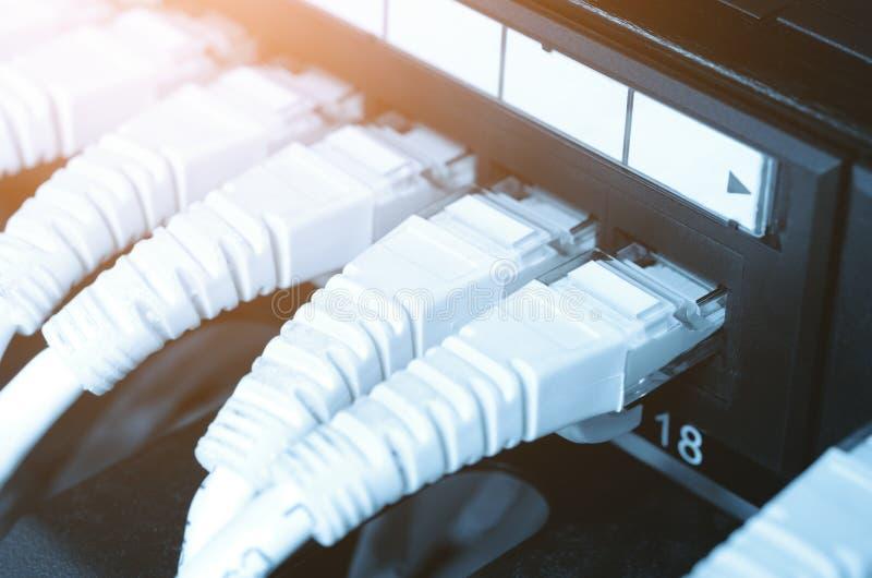 Conceito da rede Ethernet fotografia de stock royalty free