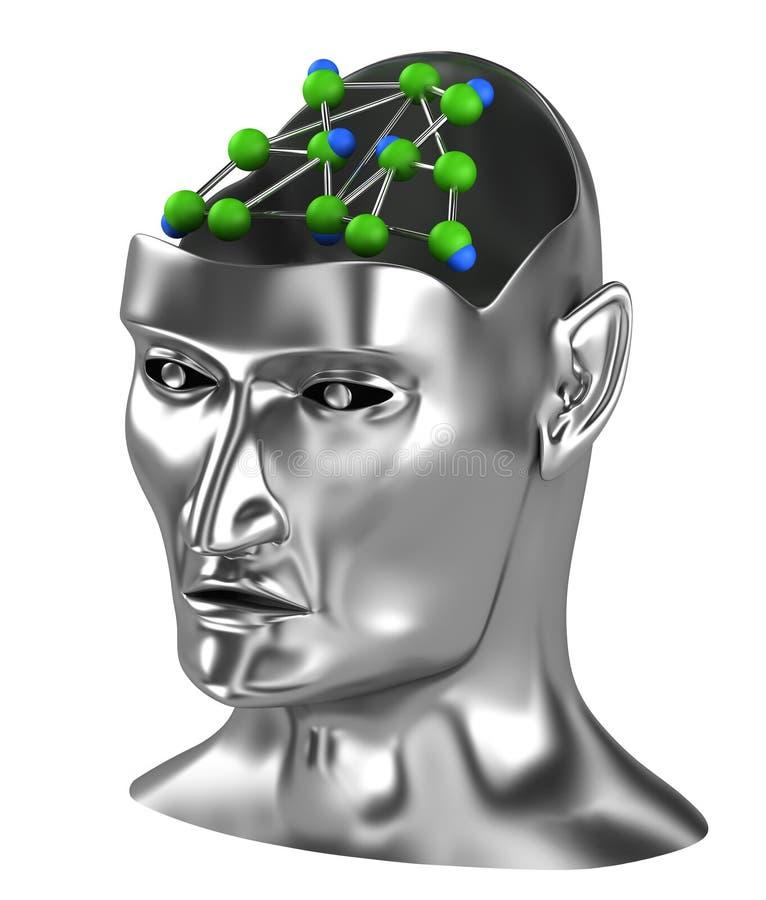 Conceito da rede Neural ilustração royalty free