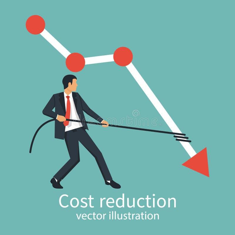 Conceito da redução de custo ilustração royalty free