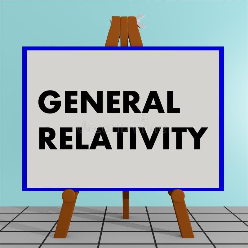 Conceito da relatividade geral ilustração royalty free